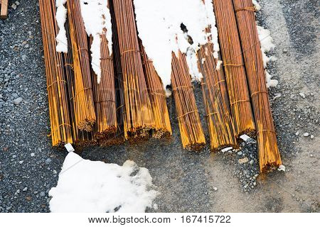 Rusty Wire As A Texture Of Metal Coil Iron Bars
