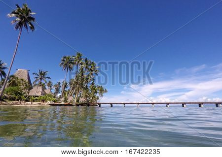 Landscape Of A Tropical Beach In Savusavu Peninsula In Vanua Levu Island, Fij
