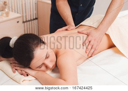 Massage Spa Body Relax Rest Treatment Beauty Health Spine Care Concept