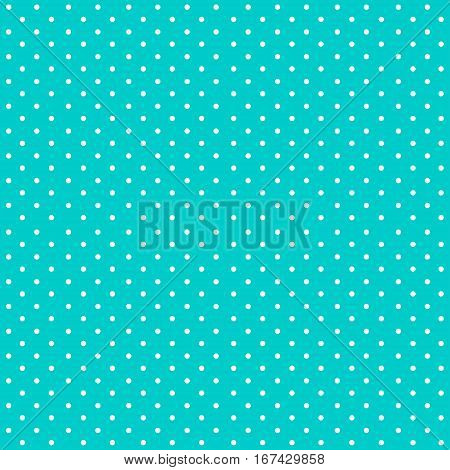 Digital Paper for Scrapbook Bright Blue Polka Dots Pattern Background seamless