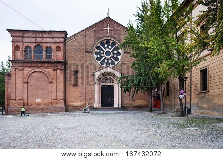 Front View Of Basilica Of San Domenico In Bologna