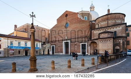 Padua Cathedral With Baptistery In Padua City