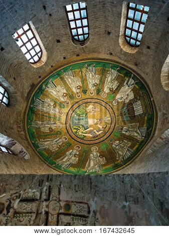Decoration Of Arian Baptistery In Ravenna