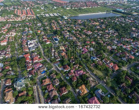 Residential Area Aerial View