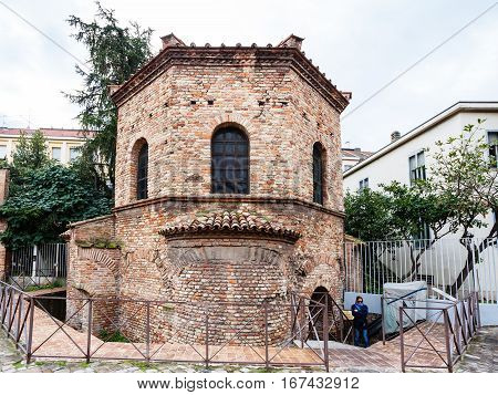 Arian Baptistery At Via D Ariani In Ravenna