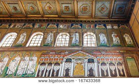 Mosaic Of Palace Of Theodoric In Ravenna
