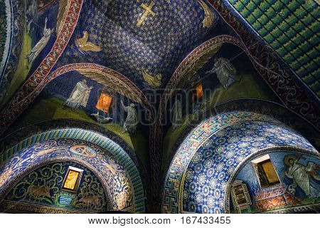 Room Of Galla Placidia Mausoleum In Ravenna