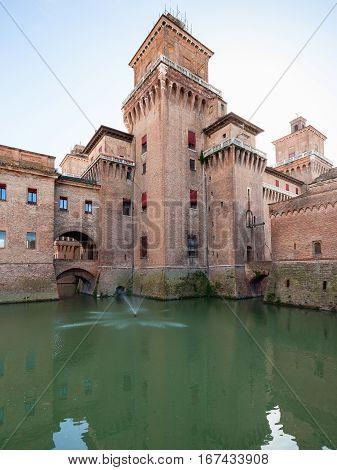 Castello Estense In Ferrara City