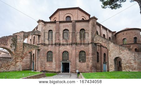 View Of Basilica San Vitale In Ravenna City