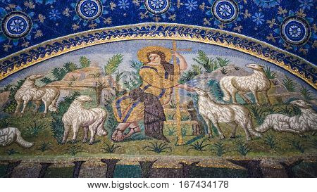 Good Shepherd Mosaic Of Galla Placidia Mausoleum