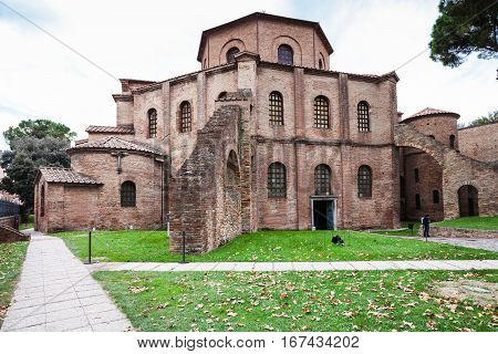 Building Of Basilica San Vitale In Ravenna
