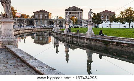 View Of Prato Della Valle In Evening In Padua
