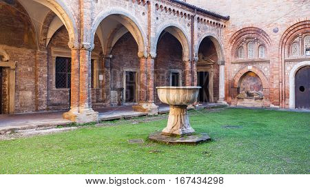 Cloister Of Pilate In Basilica Of Santo Stefano