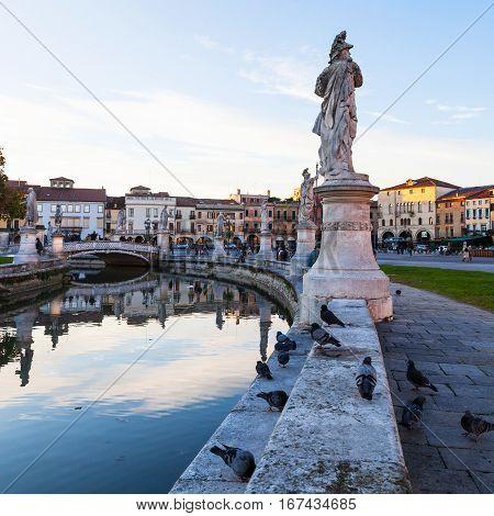 Prato Della Valle In Autumn Evening In Padua