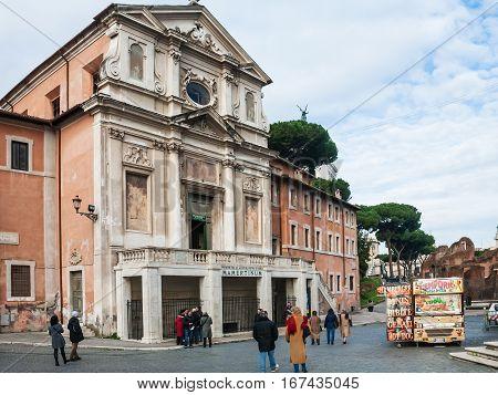 Mamertine Prison In Church On Roman Forum