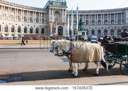 Neue Burg Palace In Hofburg In Vienna City