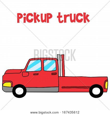 Vector art of red pickup collection stock