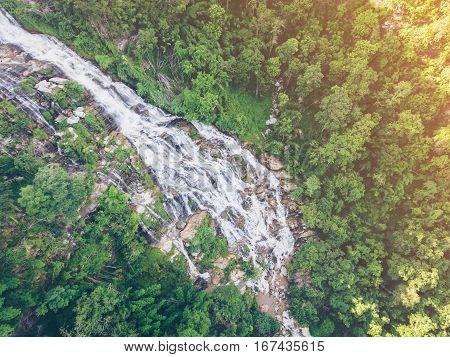 Mae Ya Waterfall From Aerial View