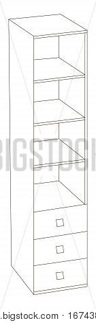 Vector illustration of small and office cupboard