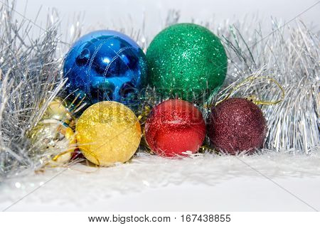 2017 new year - cristmas ball isolated