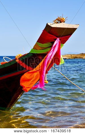 Prow Asia In The  Kho Tao Bay Isle White   South China Sea