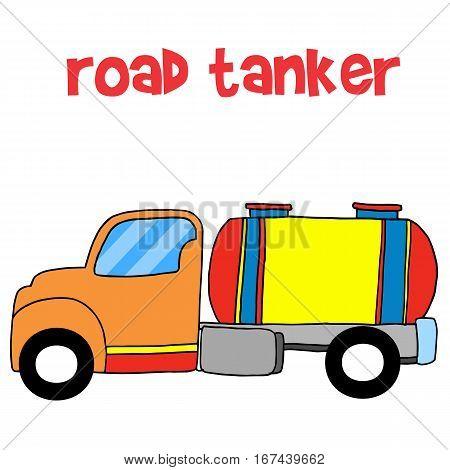 Road tanker transportation collection stock vector art