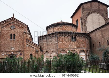 Basilica Of Santo Stefano In Bologna City