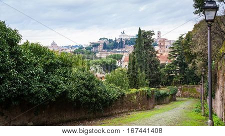 View Of Capitoline Hill From Aventine Hill In Rome