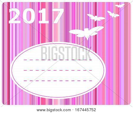 Detailed and accurate illustration of greeting card 2017