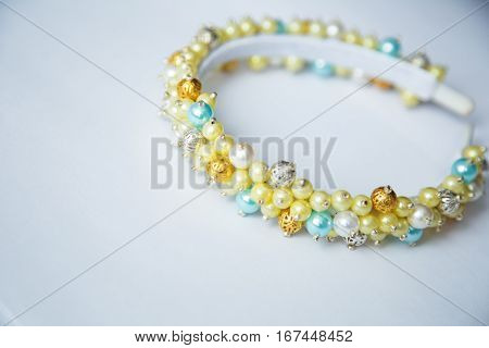 Hair hoop  lemon color. Accessory for head