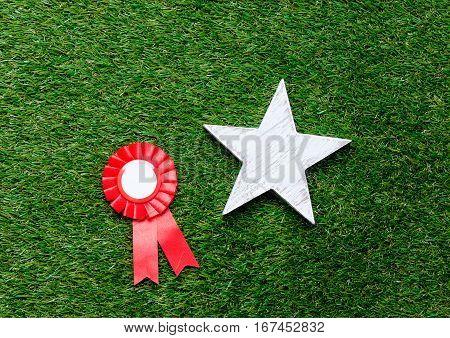 Little Red Winner Award And Star Gift