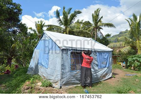 Fijian Victim Of Cyclone Winston Live In Unicef Tent