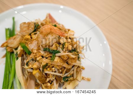 Pad Thai. Stir-fried Thai Noodle. Pad Thai Is The Famous Thai Food Cuisine For Foriegners.