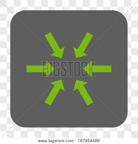 Compact Arrows interface toolbar button. Vector icon style is a flat symbol on a rounded square button light green and gray colors chess transparent background.