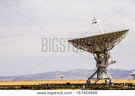 Radio telescopes at the Very Large Array in New Mexico