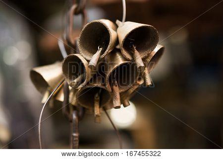 Shiny Decorative style, retro styled beautiful bells