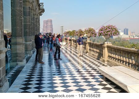 MEXICO CITY-DECEMBER 27,2016 : The National Museum of History at Chapultepec Castle in Mexico City