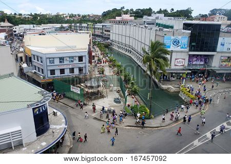 Aerial View Of Suva Fij
