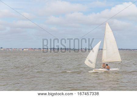 Sail Boats  In Lagoa Do Patos Lake