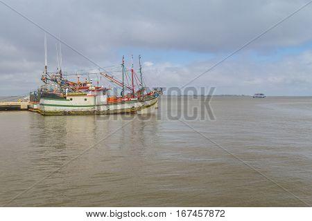 Fisherman Boats In Sao Jose Do Norte