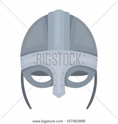 Viking helmet icon in cartoon design isolated on white background. Vikings symbol stock vector illustration.