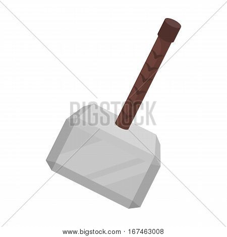 Viking battle hammer icon in cartoon design isolated on white background. Vikings symbol stock vector illustration.