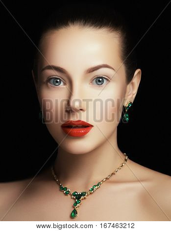 Elegant Fashionable Woman With Jewelry. Fashion Concept