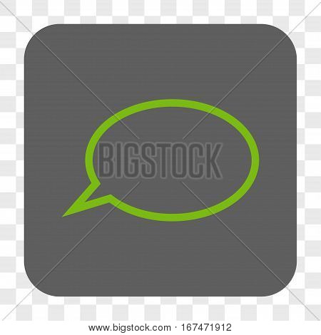 Hint Cloud interface toolbar button. Vector icon style is a flat symbol in a rounded square button light green and gray colors chess transparent background.