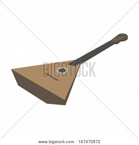 Balalaika icon in cartoon design isolated on white background. Musical instruments symbol stock vector illustration.