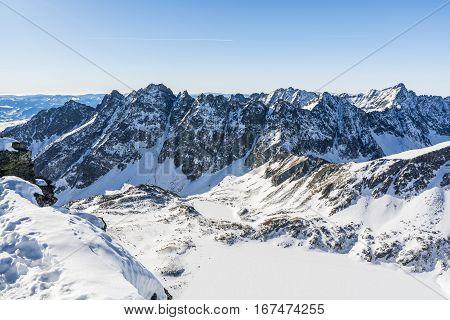 Ridge In The Winter Scenery.