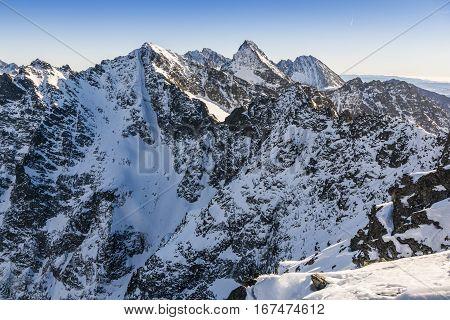 Crude Mountain Landscape.