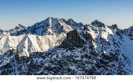 European mountain (Tatras) in winter are beautiful.