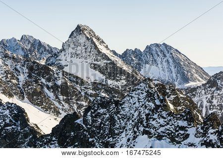 Peaks Sprinkled With Snow.