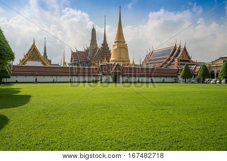 Wat Phra Keow. The Royal Temple In Bangkok, Thailand, Is Located Near Bangkok Grand Palace.